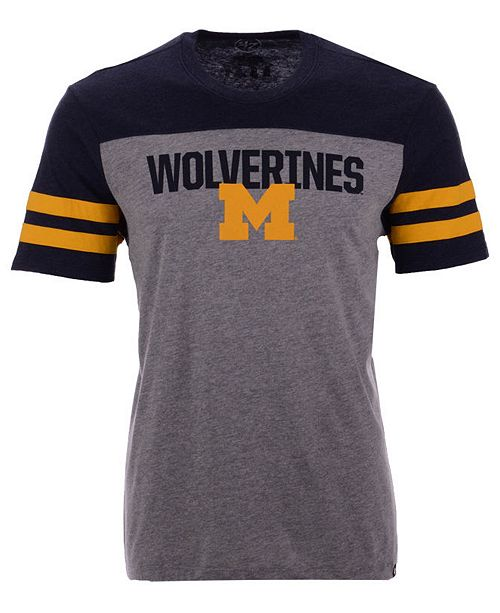'47 Brand Men's Michigan Wolverines Tri-Colored T-Shirt