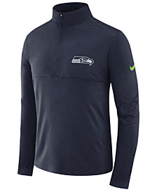 Nike Men's Seattle Seahawks Core Modern Quarter-Zip Pullover