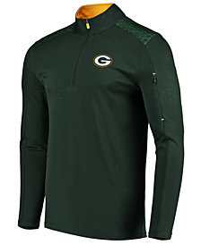 VF Licensed Sports Group Men's Green Bay Packers Ultra Streak Half-Zip Pullover