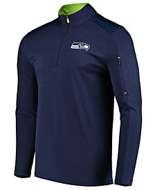 VF Licensed Sports Group Men's Seattle Seahawks Ultra Streak Half-Zip Pullover