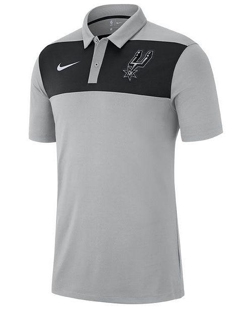 9ced0ee04 Nike Men's San Antonio Spurs Statement Polo - Sports Fan Shop By ...
