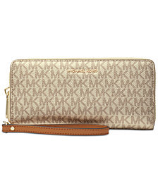 MICHAEL Michael Kors Boxed Metallic Signature Travel Continental Wallet