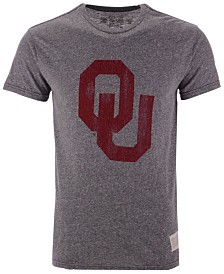 Authentic NCAA Apparel Men's Oklahoma Sooners Big Logo Triblend T-Shirt