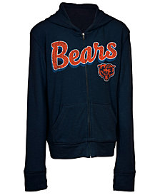 5th & Ocean Chicago Bears Sweater Full-Zip Hoodie, Girls (4-16)