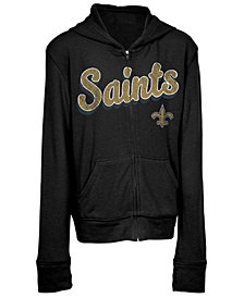 5th & Ocean New Orleans Saints Sweater Full-Zip Hoodie, Girls (4-16)