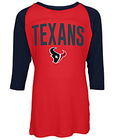 5th & Ocean Houston Texans Raglan T-Shirt, Girls (4-16)