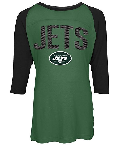 5th & Ocean New York Jets Raglan T-Shirt, Girls (4-16)