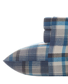 Eddie Bauer Spencer Twin Plaid Medium Blue Sheet Set