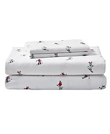 Rookeries Cotton Flannel Twin Sheet Set