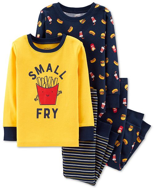 246745b41 Carter's Toddler Boys 4-Pc. French Fry Cotton Pajamas & Reviews ...