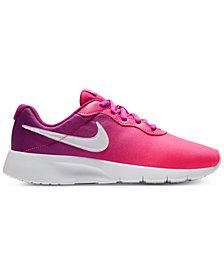Nike Girls' Tanjun Print Casual Sneakers from Finish Line