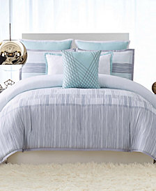 Vince Camuto Kasu Stripe King 3  Piece Comforter Set