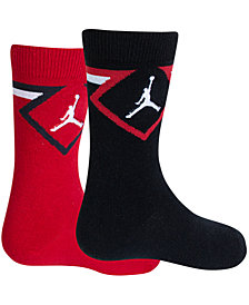 Jordan Little & Big Boys 2-Pk. Diamond High Crew Socks