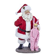 Kurt Adler 10 Inch A Christmas Story Santa and Ralphie Tablepiece