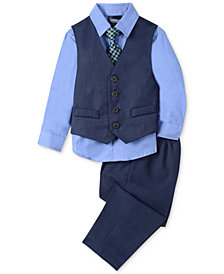Nautica Baby Boys 4-Pc. Vest, Shirt, Pants & Tie Set
