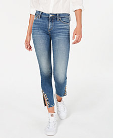 Joe's Jeans Icon Embellished Ankle-Slit Jeans