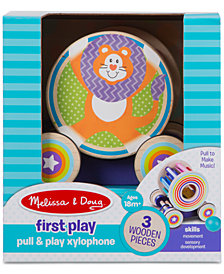 Melissa & Doug First Play Pull & Play Xylophone Wooden Pull Toy