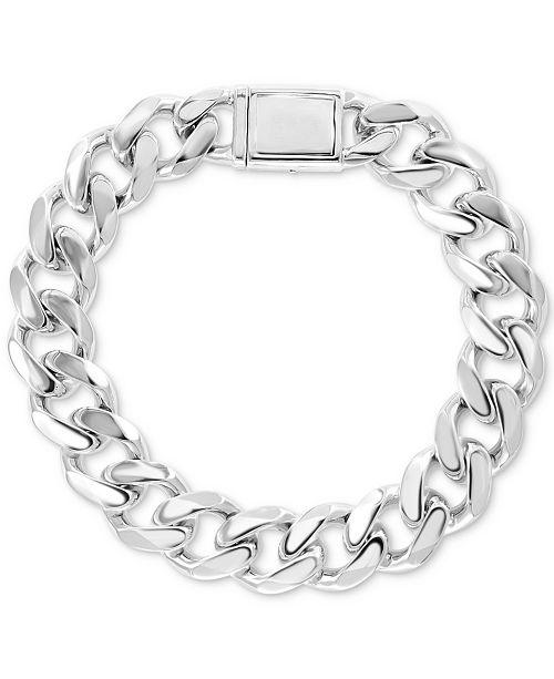 EFFY Collection EFFY® Men's Curb Link Bracelet in Sterling Silver