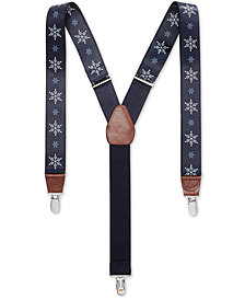 Club Room Men's Snowflake Suspenders, Created for Macy's