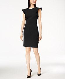 Calvin Klein Petite Flutter-Sleeve Sheath Dress
