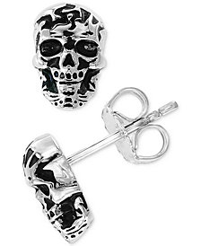 EFFY® Men's Skull Stud Earrings in Sterling Silver