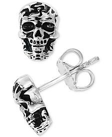EFFY® Men's Skull Stud Earrings in Sterling Silver