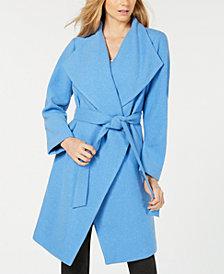 Alfani Belted Drape-Front Jacket, Created for Macy's