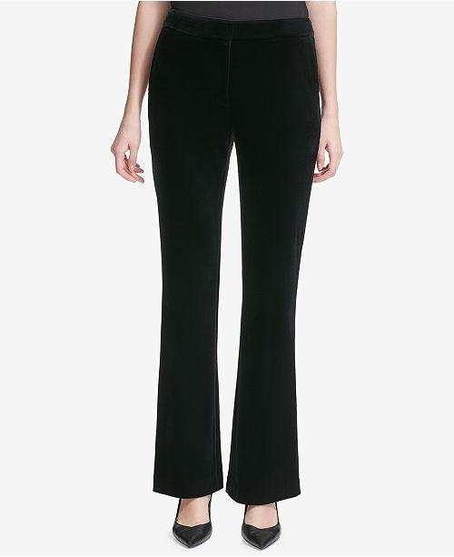 ab0917bea6c Calvin Klein Velvet Pants   Reviews - Pants   Capris - Women - Macy s