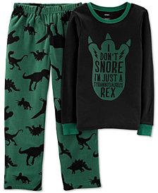 Carter's Little Boys 2-Pc. Snore T-Rex Pajama Set