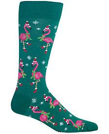 Hot Sox Men's Flamingo Crew Socks