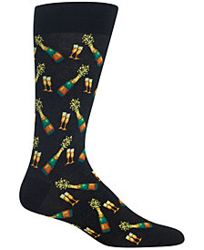 Hot Sox Men's Printed Crew Socks