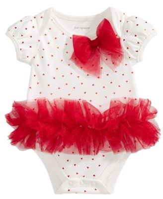 Image of First Impressions Baby Girls Tulle Tutu & Bow Bodysuit, Created for Macy's