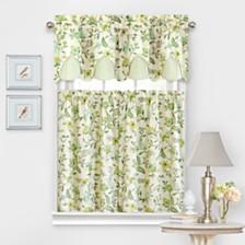 Waverly Carolina Crewel Curtain Tier Pair