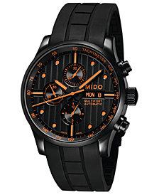 Mido Men's Swiss Automatic Multifort Black Rubber Strap Watch 44mm