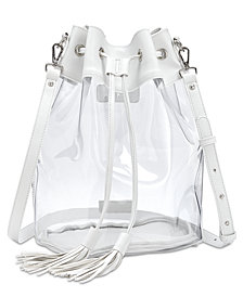 Steve Madden Clear Bucket Bag
