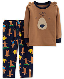 Carter's Toddler Boys' Navy Yoga Bear 2 pc. Pajamas