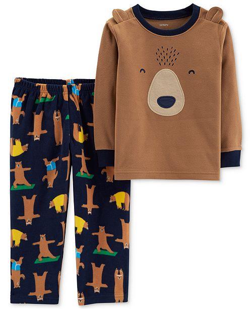 39aa8b4f3 Carter s Toddler Boys 2-Pc. Navy Yoga Bear Pajamas Set   Reviews ...