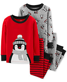 Carter's Toddler Boys 2-Pc. Red Skiing Penguins
