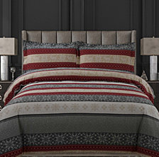 Alpine Knit Cotton Flannel Printed Oversized King Duvet Set