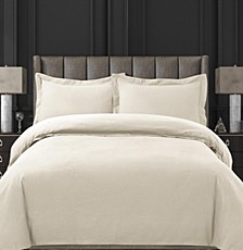 Cotton Flannel Solid Oversized King Duvet Set