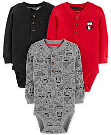 Carter's Baby Boys 3-Pk. Thermal Cotton Henley Bodysuits