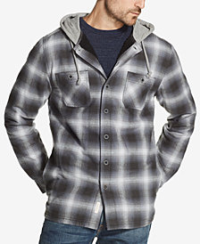 Weatherproof Vintage Men's Hooded Shirt Jacket