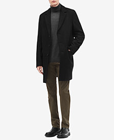 Calvin Klein Men's Solid Wool Overcoat