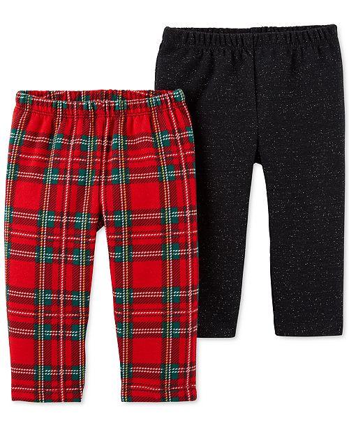 c9b6306d8 Carter s Baby Girls 2-Pk. Fleece Leggings - Leggings   Pants - Kids ...