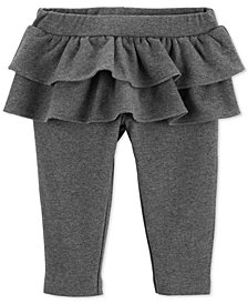 Carter's Baby Girls Ruffle-Trim French Terry Leggings