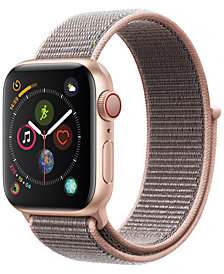 Apple Watch Series 4 GPS + Cellular, 40mm Gold Aluminum Case with Pink Sand Sport Loop