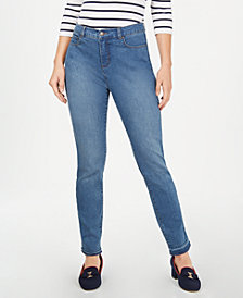 Charter Club Tummy Control Frayed-Cuff Skinny Jeans, Created for Macy's