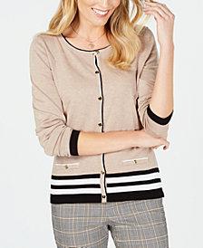 Karen Scott Tipped Cardigan Sweater, Created for Macy's
