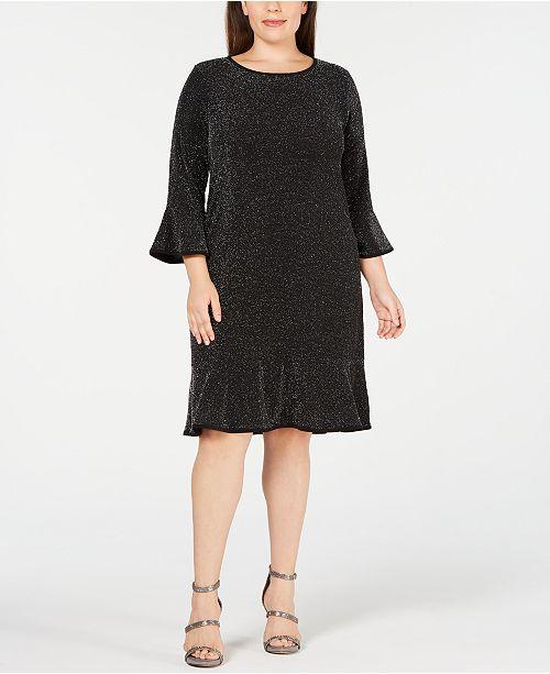 Michael Kors Plus Size Sparkly Metallic Dress & Reviews ...