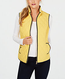 Charter Club Quilted Vest, Created for Macy's